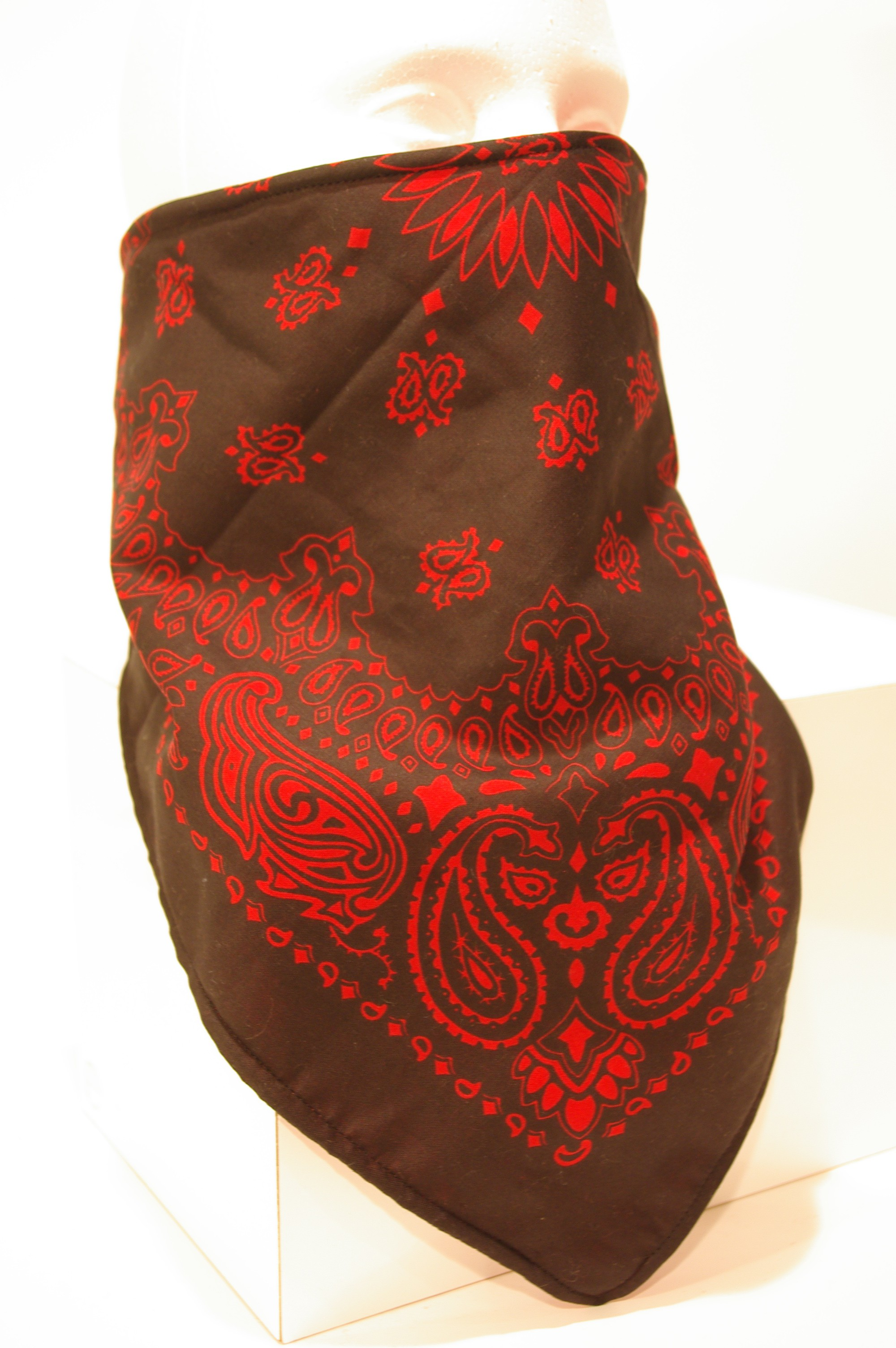 #152 Red bandana on Black