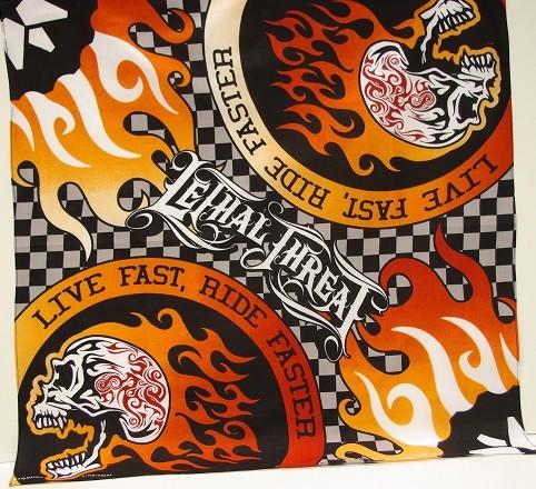 #254 Ride Fast Skull Bandana