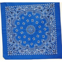 #068 Royal Blue Paisley Bandana