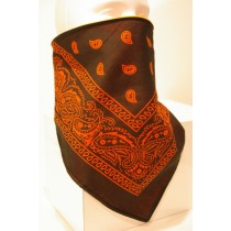 #151 Orange Bandana on Black